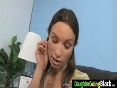 youthful daughter with precious a-hole drilled by