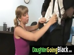 see how my daughter is drilled by a dark dude 711