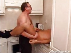 man in glasses ass fucking his younger friend in
