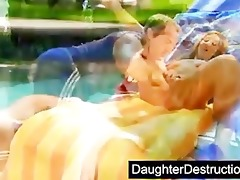cute daughter screwed by smutty man