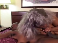 dark big beautiful woman granda takes black cock