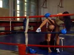 hawt hugarian chick bettina fucking in boxing ring
