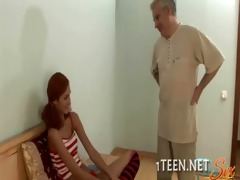 concupiscent legal age teenager chick inserted