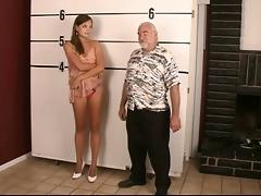arrested juvenile dark brown undresses for old