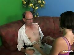 grandpa copulates a slender whore with petite