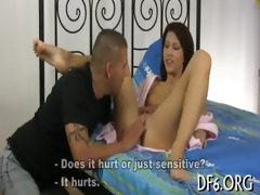 virgin explores knob & cum