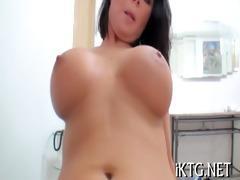 glad hotty enjoys knob