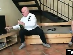 old chap fucking a legal age teenager hotty