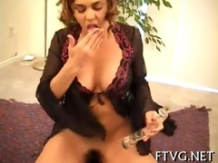 girl caresses her bawdy cleft