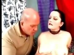 goth big beautiful woman screwed by old chap