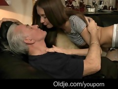 old man visit to ally ends with fucking juvenile