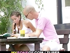 youthful gf cheats with his bfs daddy