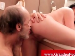 loni evans fucked by grand-dad in a throne room