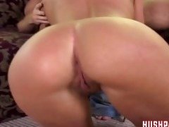 her daddy nearly catches her fucking a large dick!