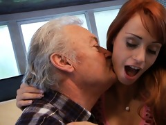 fortunate oldman bonks with super hot hottie