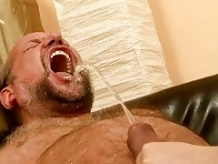 grand-dad fucking and pissing on nasty redhead