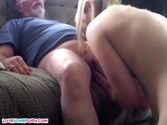 dad fucks her younger mmf lover