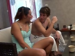 french sweetheart catches her step-brother in the