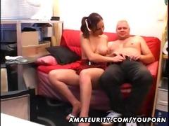 juvenile girlfriend sucks and bonks an old lad