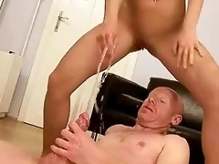 grand-dad fucking and peeing on juvenile girl