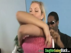 juvenile daughter gets pounded by big darksome