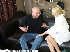 nurumassage horny blond cuckold massage