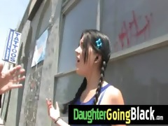 fresh darksome stepdad punishes hawt daughter for