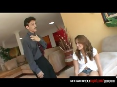 hawt allie haze gets punished by her step daddy