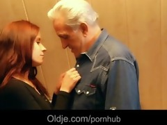 grandpa receives raunchy thanks from hussy