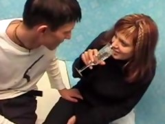 drunk sister with shaggy cunt humiliated by step