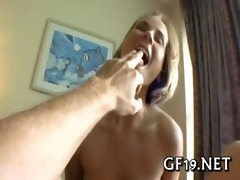cute cutie worships a knob