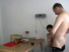 russian cutie engulf and fuck with dad for