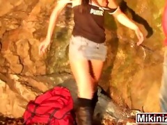 papy voyeur outdoors public european old youthful