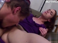 sexually excited daughter home oral job