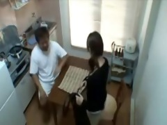 daddy copulates sons gf in kitchen