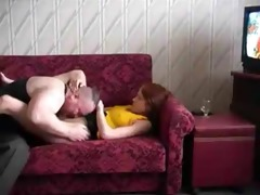 hawt daughter drilled by chubby old dad
