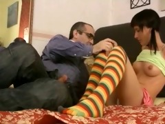 old studs screwed legal age teenager in couch