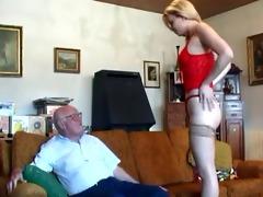 old older man copulates youthful blond