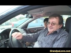 granddad giving weenie to a sexually excited