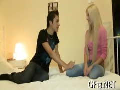 sweet-looking legal age teenager cutie takes hard