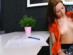 nasty student drilled her own old teacher on his