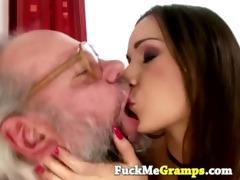 unshaved grandpa enjoys playfull legal age
