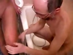 old granddad family sex with young daughter in